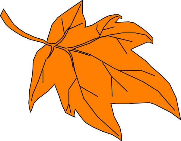 Fall leaves orange leaves fall clipart clipground