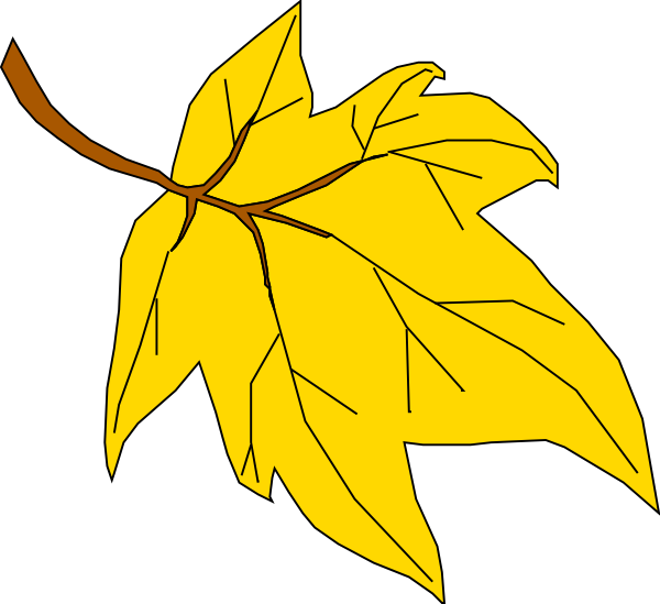 Fall leaves yellow oak leaf clipart fall