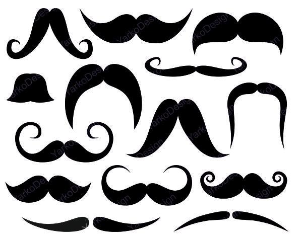 Free downloadable mustache clip art clipart image 6