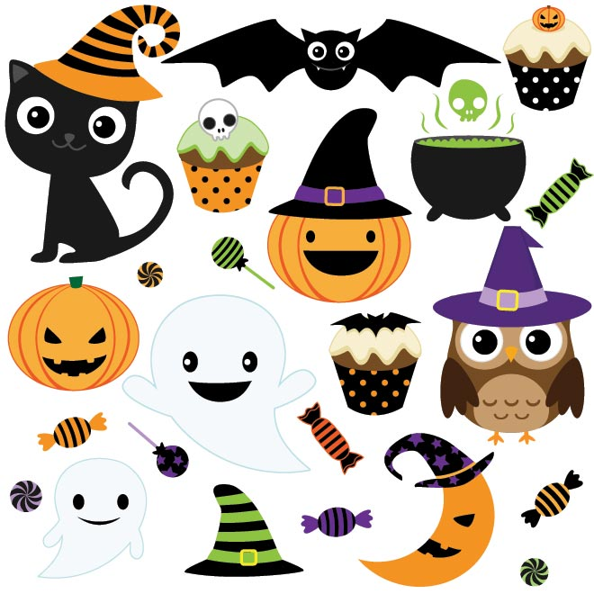 Free halloween cemetery clipart image scene in a