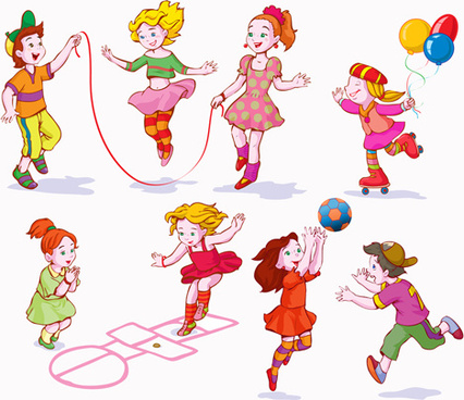 Free vector children playing free download 2 clip art