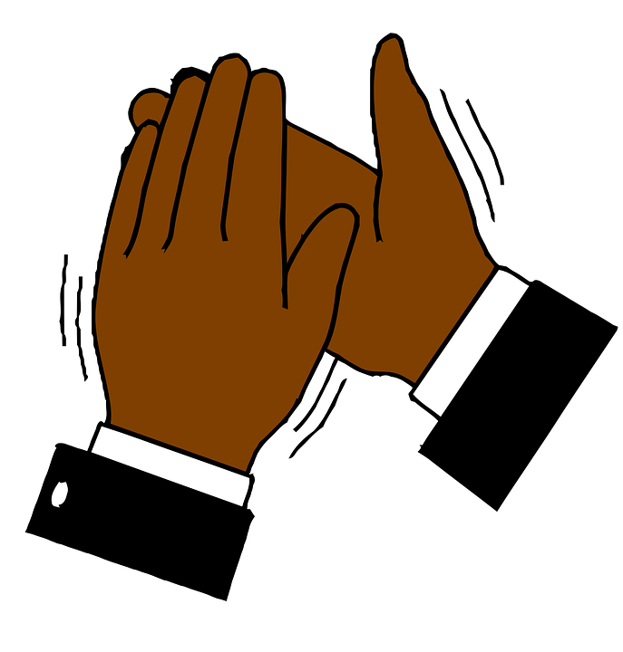 Free vector graphic hands clapping applause image on clipart