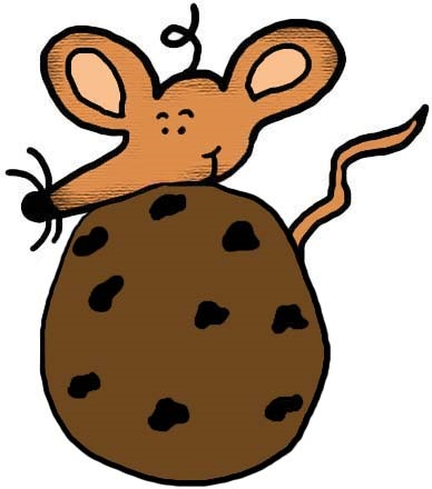Give a mouse cookie clipart