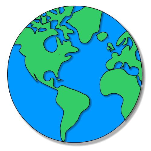 Globe earth on planet clip art and day clipartwiz