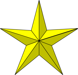 Gold star clip art at vector clip art