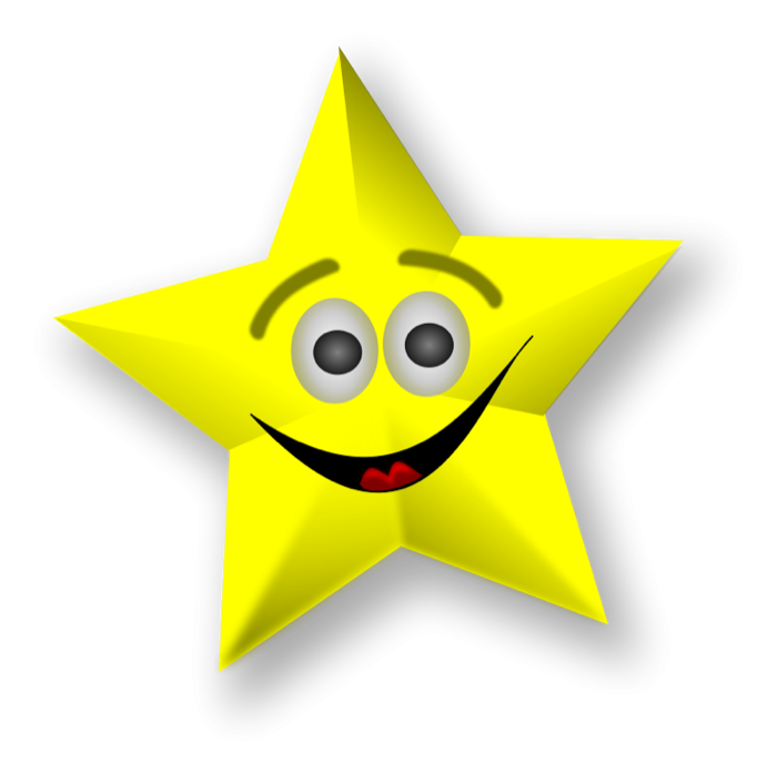 Gold star clipart and animated graphics of stars