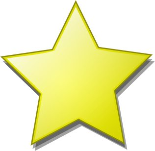 Gold star free stars clipart graphics images and photos 2
