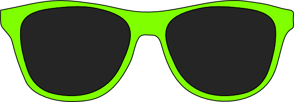 Green sunglasses clip art at clker vector