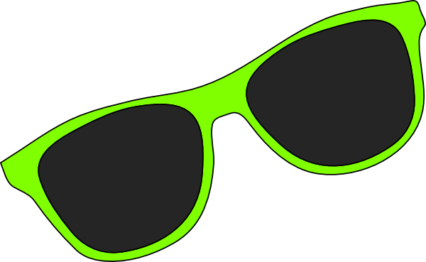 Green sunglasses clip art free clipart images