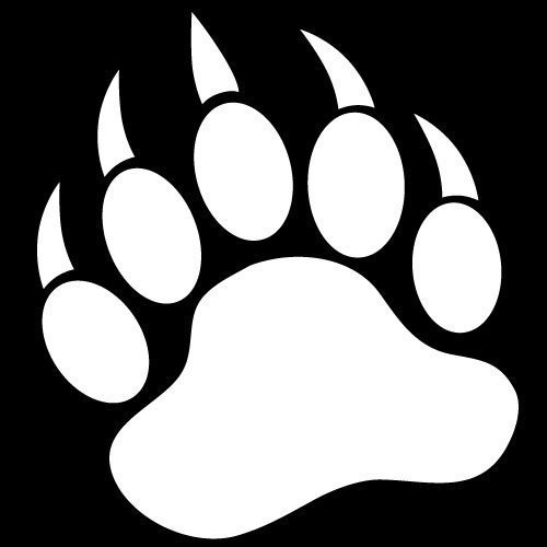 Grizzly bear paw print clipart free images 4 clipart