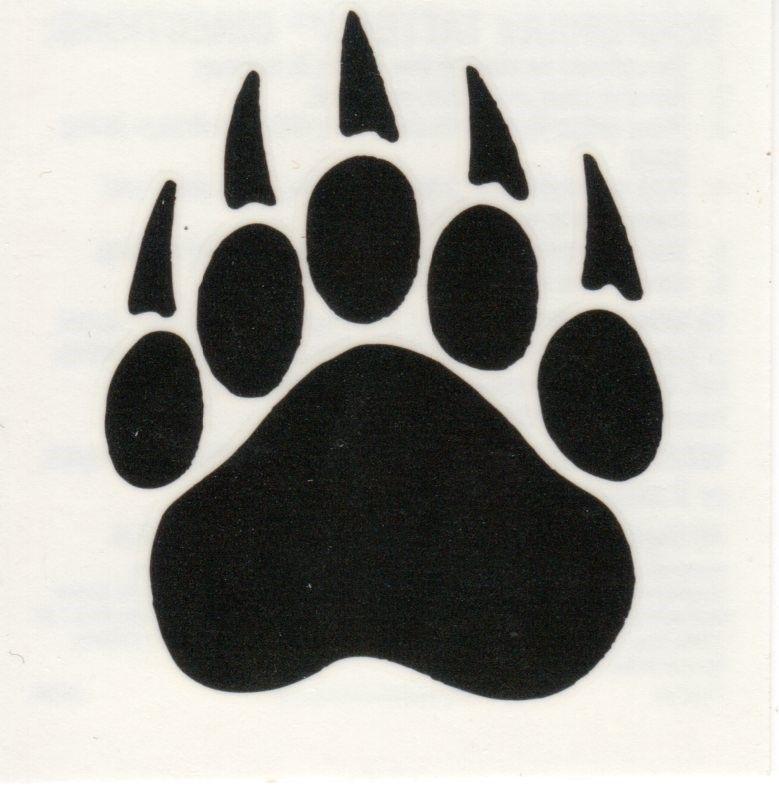 Grizzly paw print tattoo bear paw print tattoo body art clip art