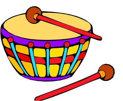 Kid playing drums clipart free images