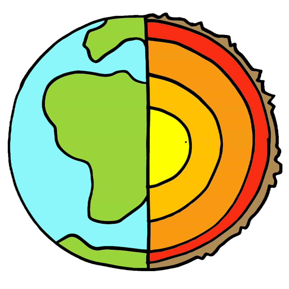 Layers of the earth clipart 2