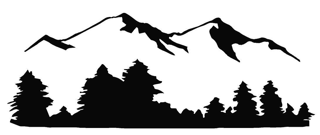 Mountain black and white mountain clip art free