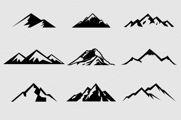 Mountain black and white mountain clipart hi