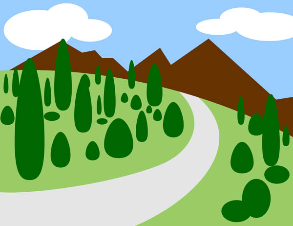 Mountain road clipart