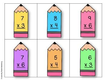 Multiplication division basic facts images on clipart