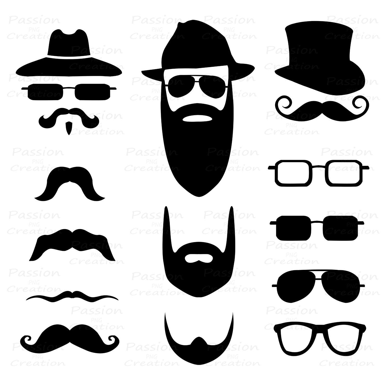 Mustache clip art 8