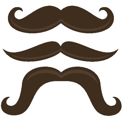 Mustache clip art no background 3