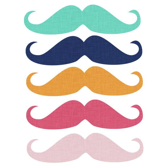 Mustache clipart digtal art