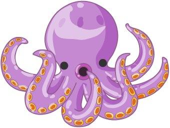 Octopus clipart 8