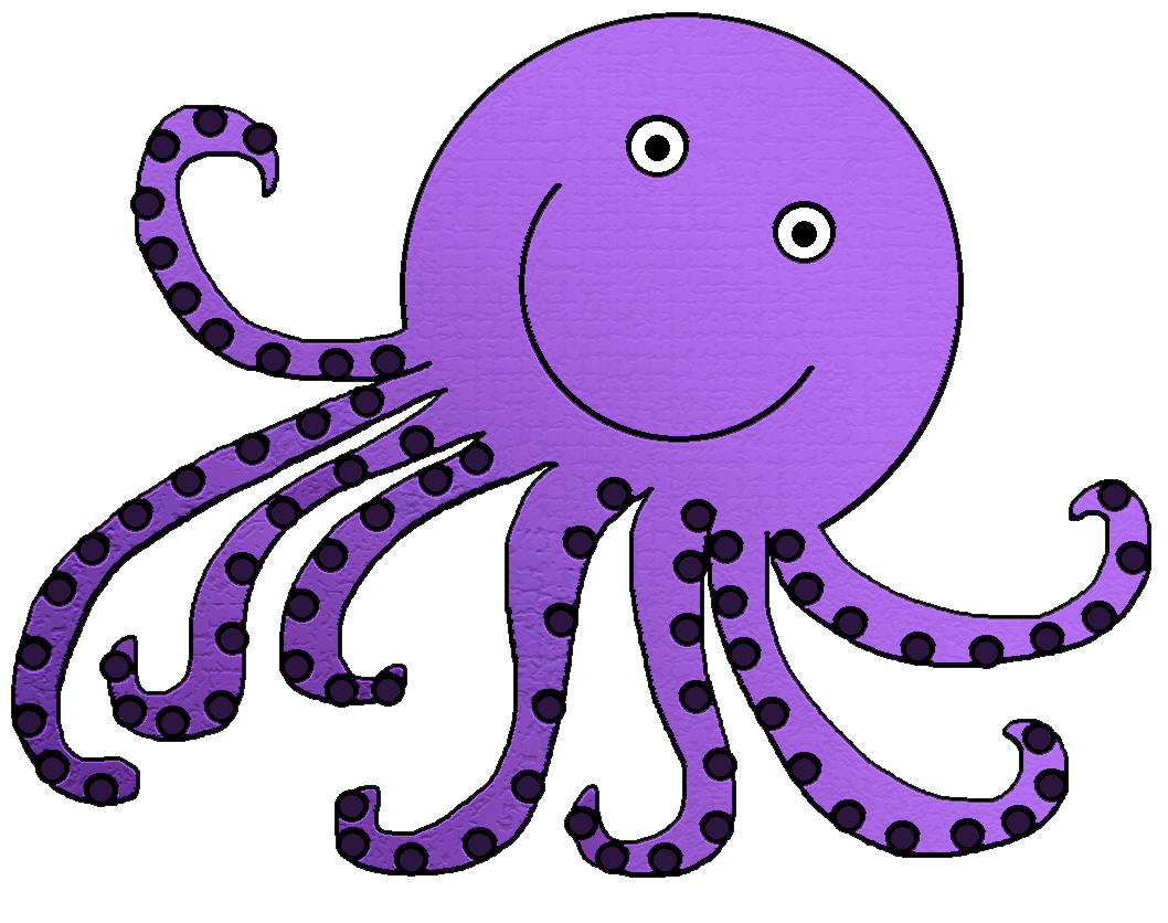 Octopus clipart free images 3