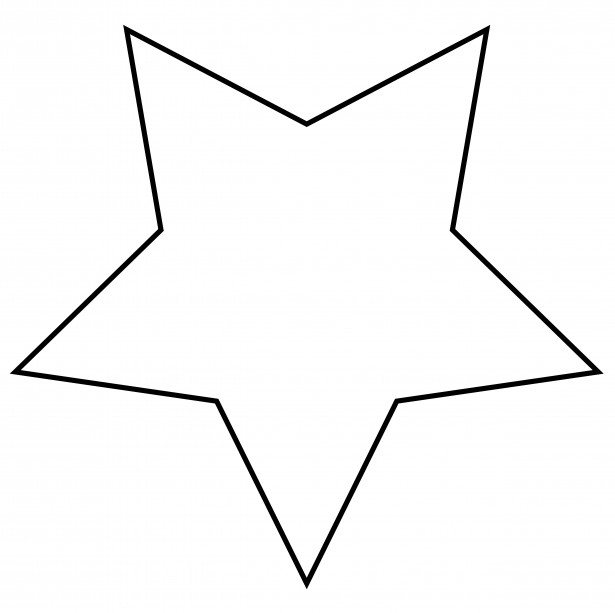 Outline of a star clipart for free clipart images