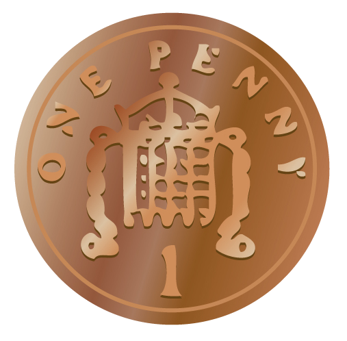 Penny british coins clip art