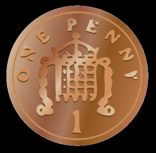 Penny british coins clip art