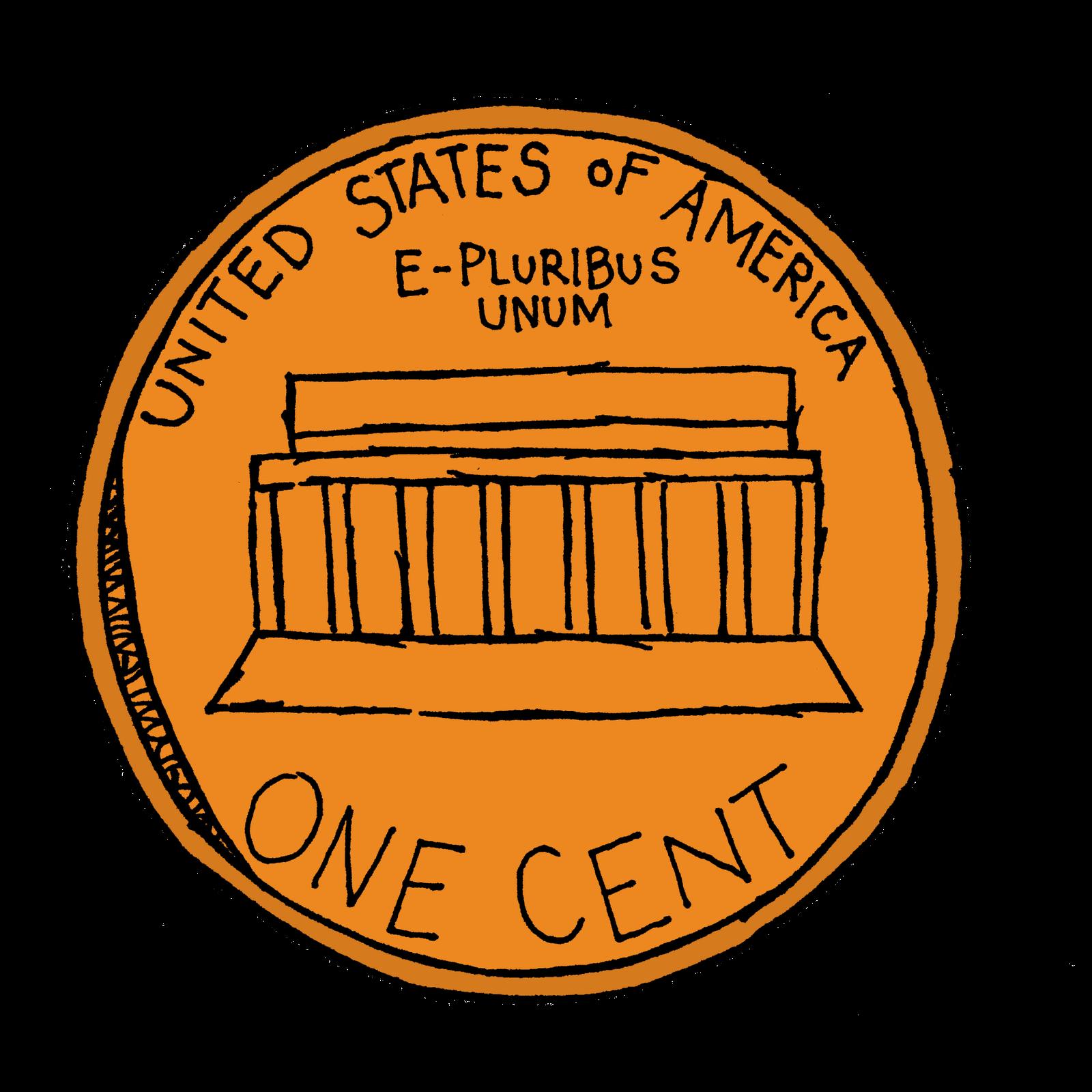Penny clip art 4