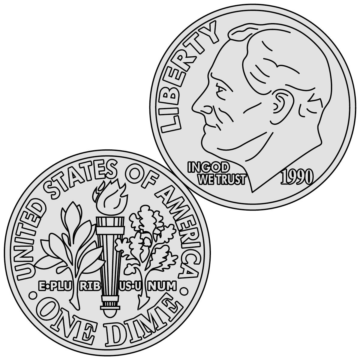 Penny clip art 8