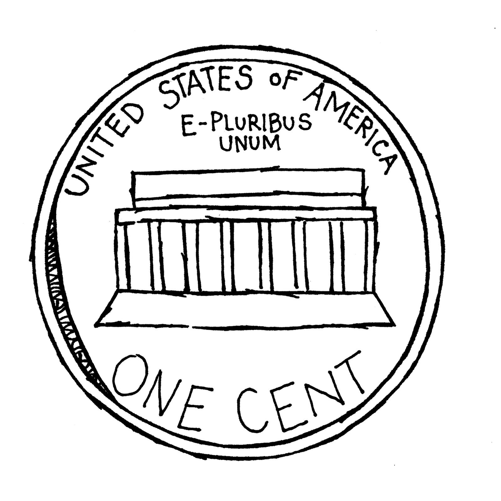 Penny clip art coins clipart image 2