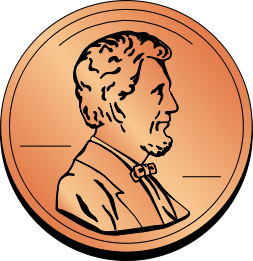 Penny clip art free clipart images 2