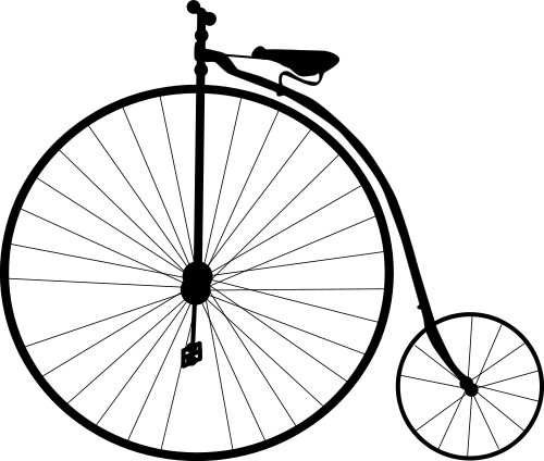 Penny farthing bicycle free clipart images