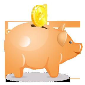 Piggy bank clip art free clipart images