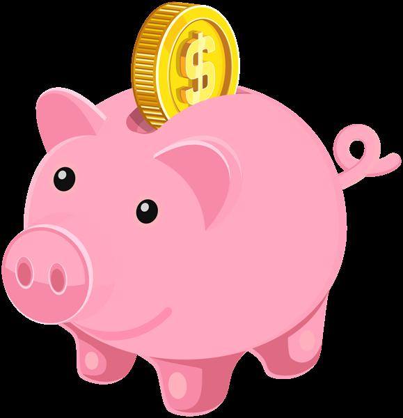 Piggy bank clip art image clipart