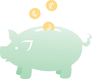 Piggy bank clipart free image