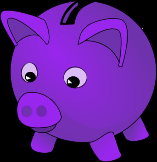 Piggy bank vector clip art clipart