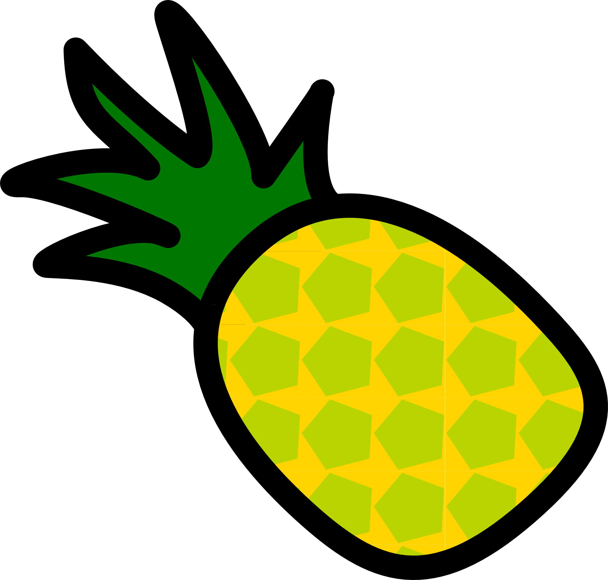 Pineapple clipart free images 2