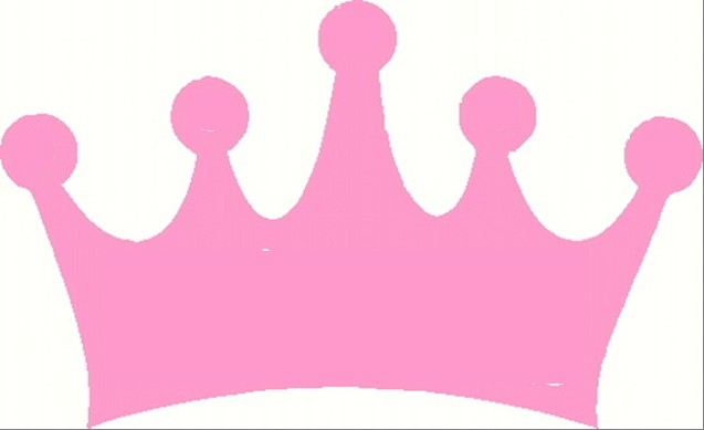 Pink princess crown clipart 2