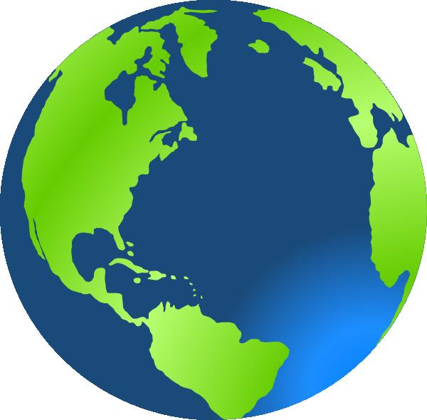 Planet earth clip art at vector clip art