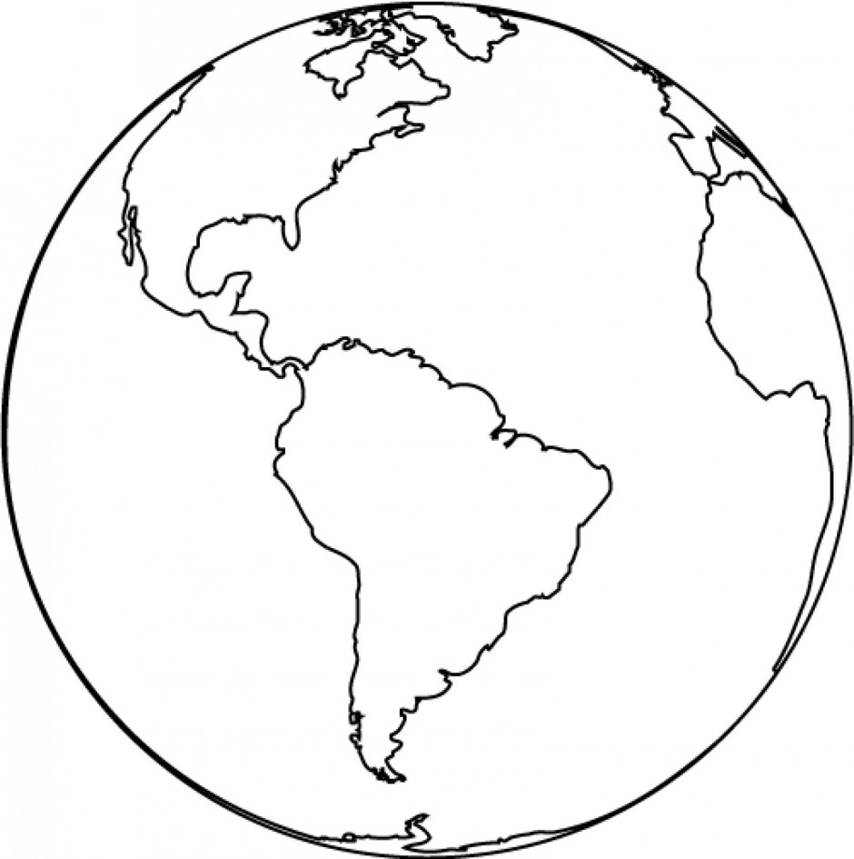 Planet earth clipart black and white pics about space image