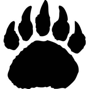 Polar bear paw print clipart clipart