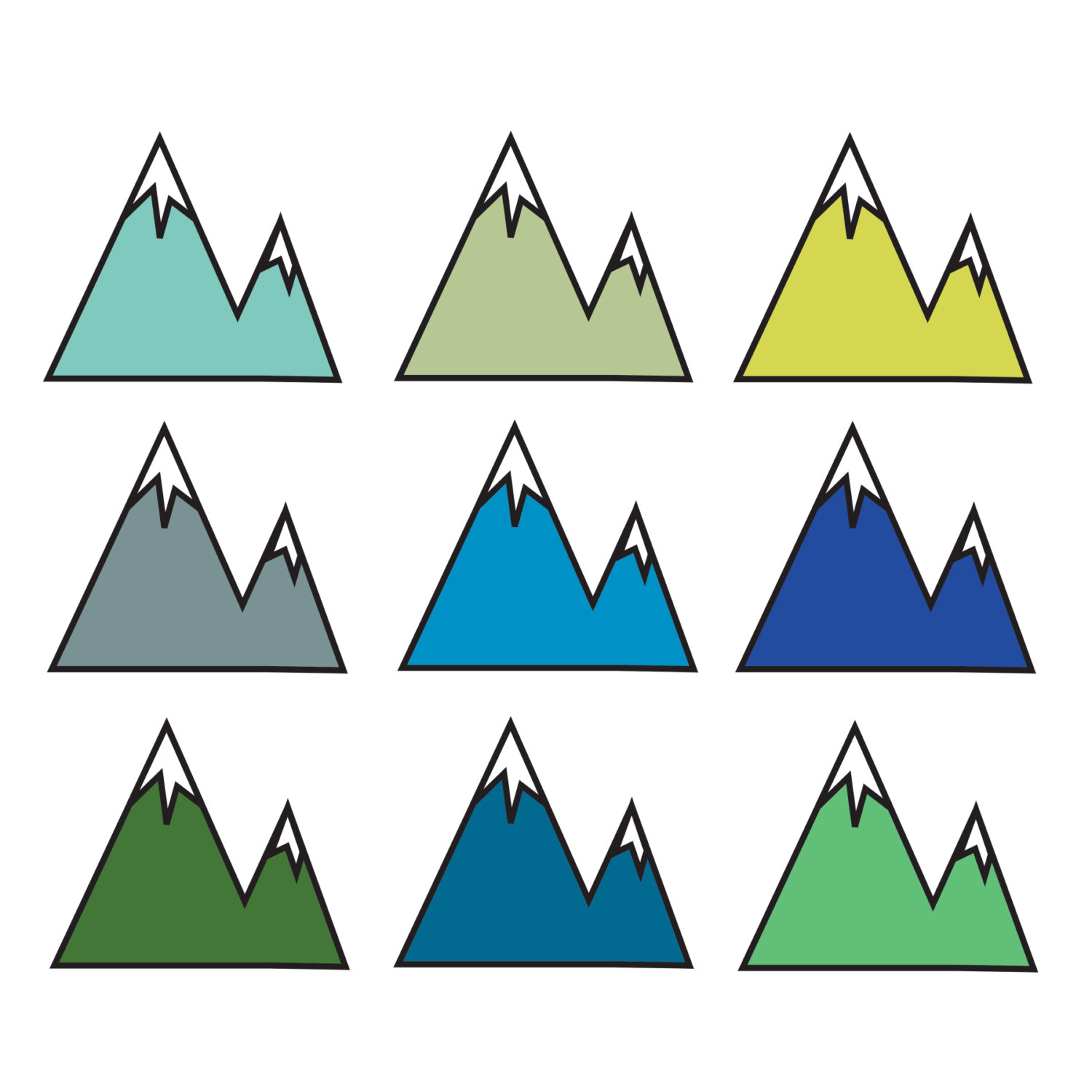 Popular items for mountain clipart on journey