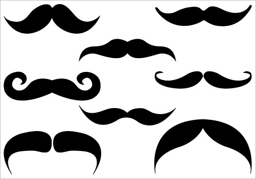 Quirky mustache clipart image 0