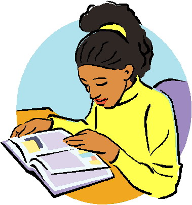 Reading clip art free clipart images
