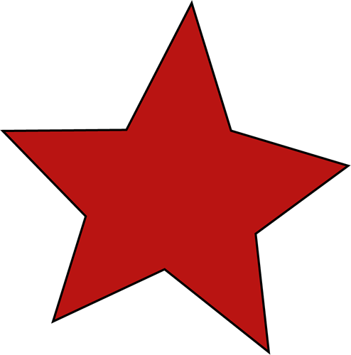 Red star clip art free clipart images