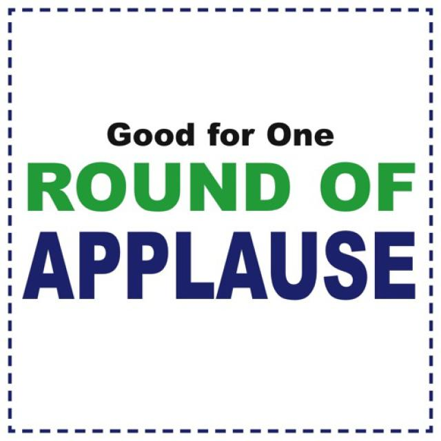 Round of applause clip art library