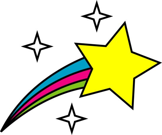 Shooting star clipart ideas on star template