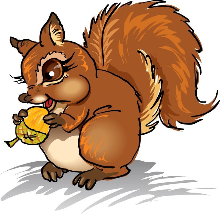 Squirrel clipart 1 image 5